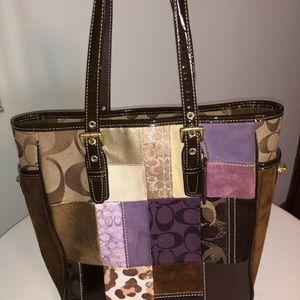 Coach multi color, rare signature purse!